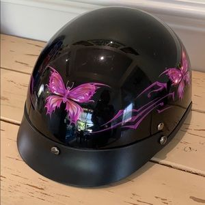 Outlaw Butterfly Motorcycle Helmet